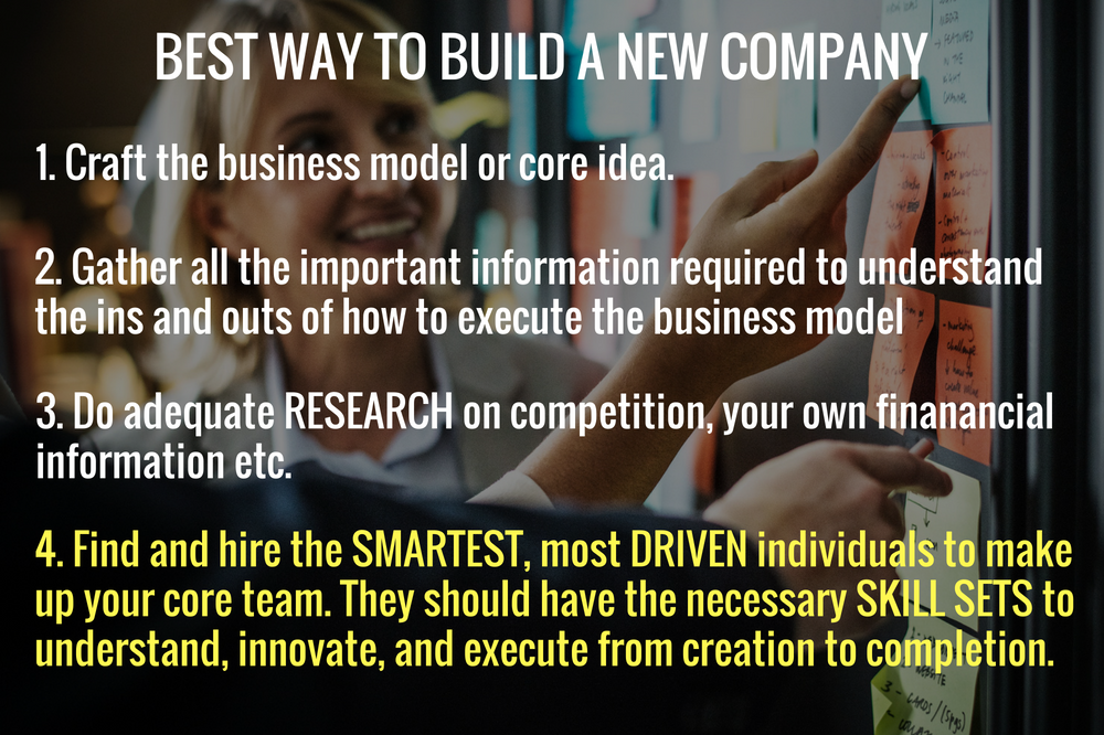 4 Steps to Build a New Company