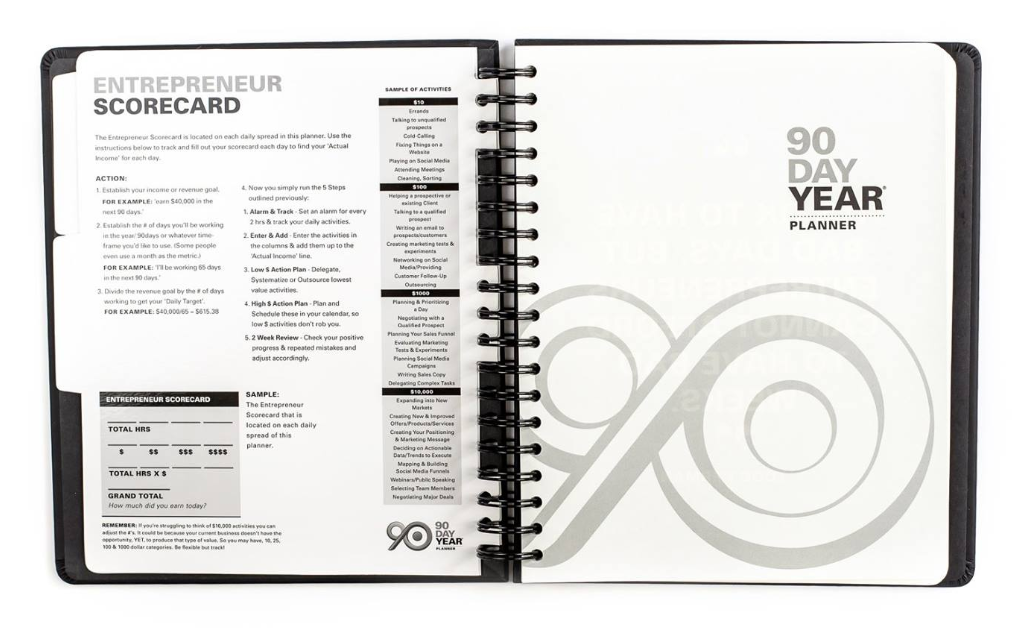 90 Day Year Entrepreneur Scorecard