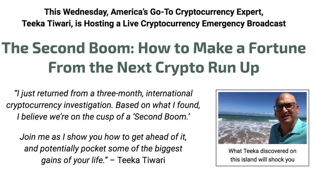 Teeka Tiwari The Second Boom in Crypto