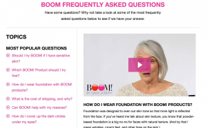Video On Boom FAQ Page