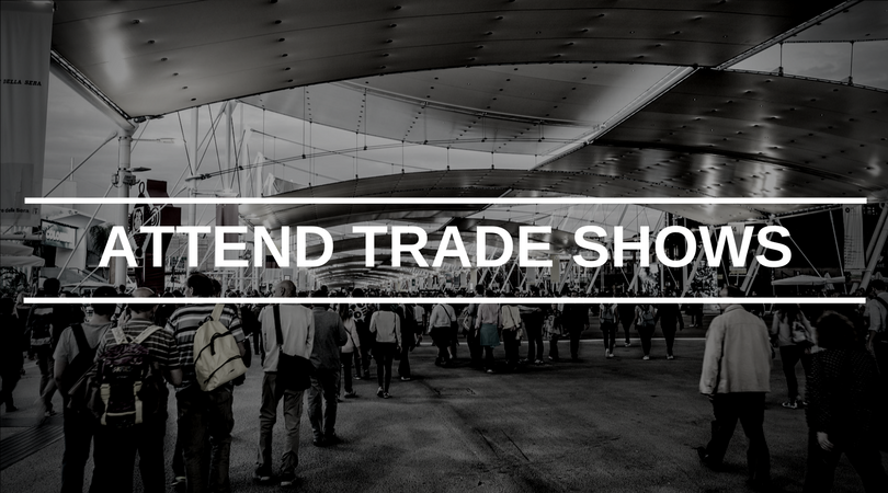 Product sourcing hack - attend trade shows