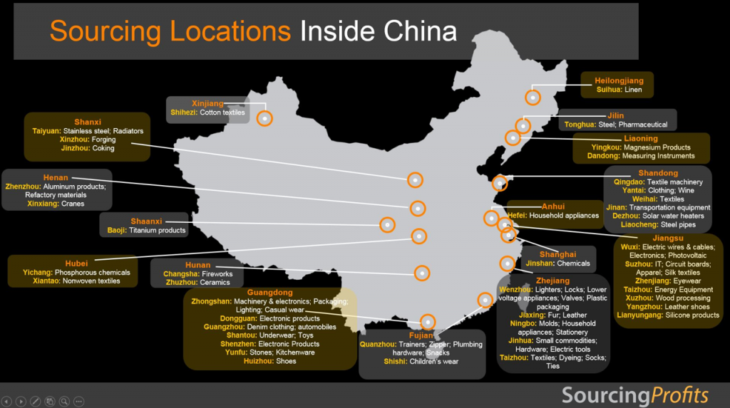 Top Sourcing Locations Inside China